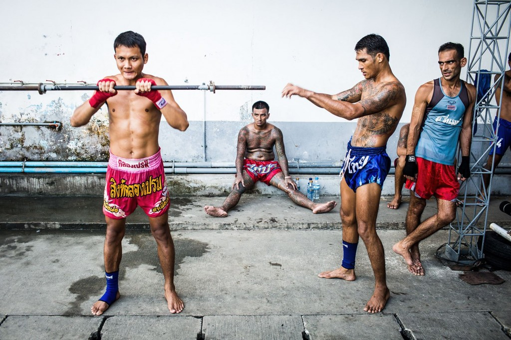 Photographs from Klong Prem prison's Muay Thai program in Bangkok, Thailand.