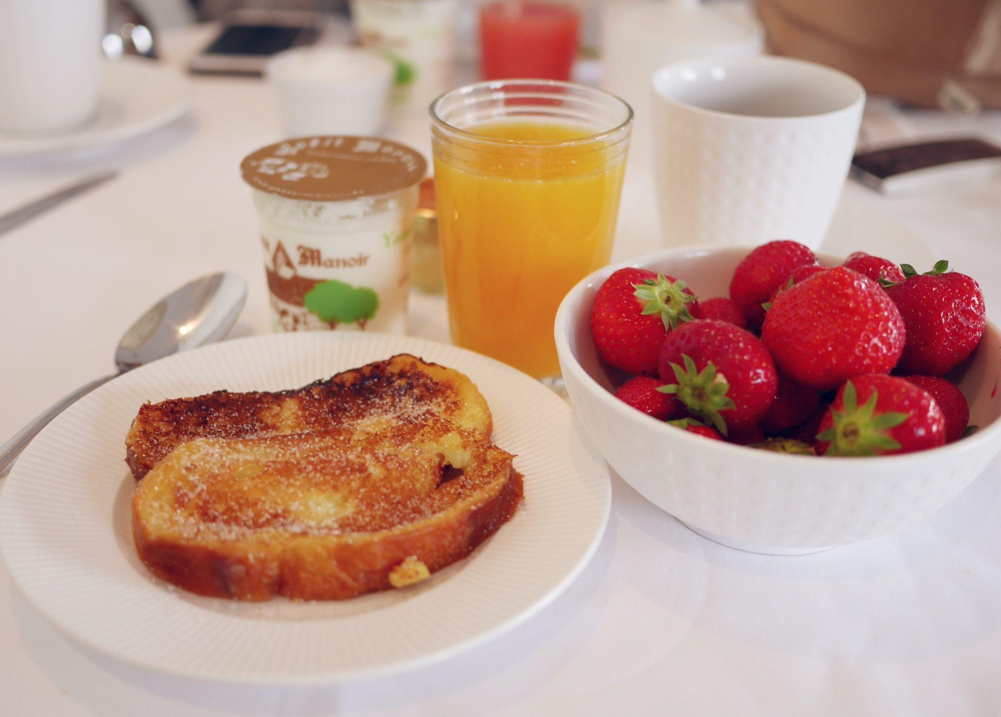 Petit déjeuner à l'hôtel l'Erguillère