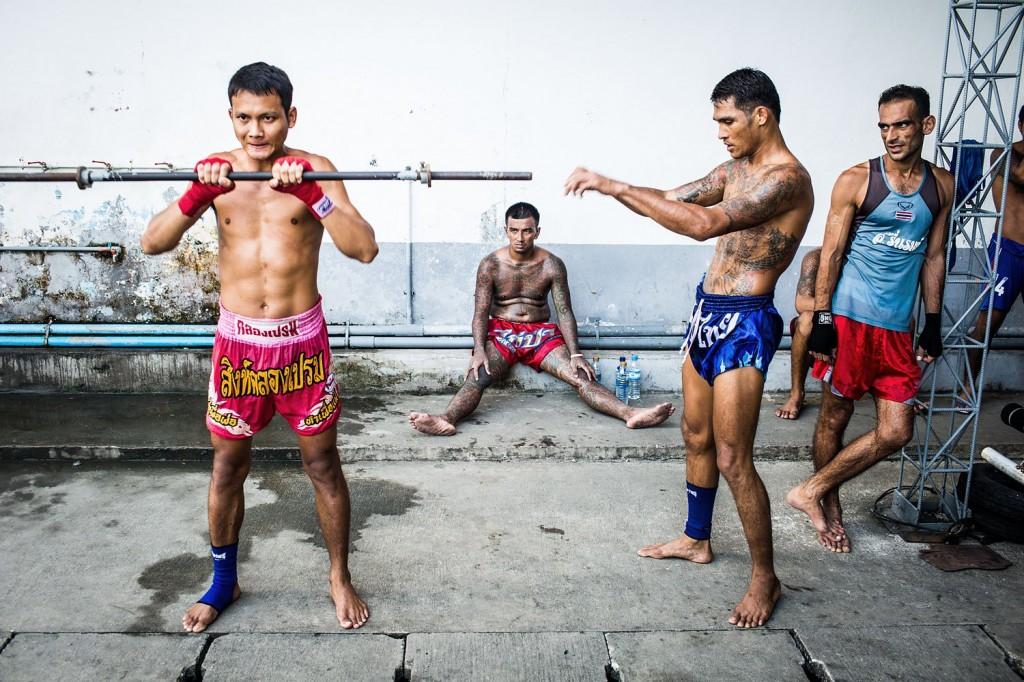 Photographs from Klong Prem prison's Muay Thai program in Bangkok, Thailand.